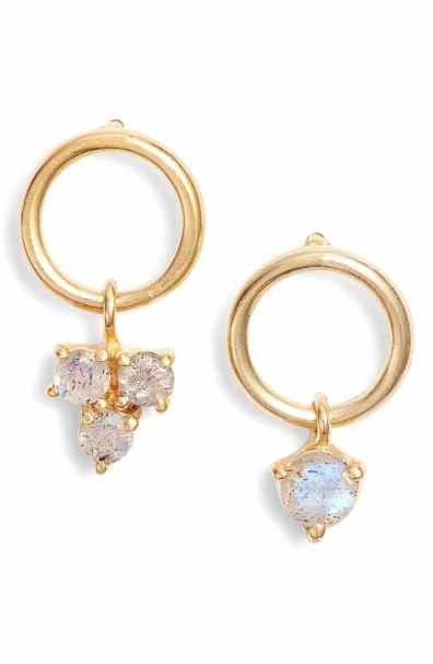 Argento Vivo sweetheart mismatched earrings