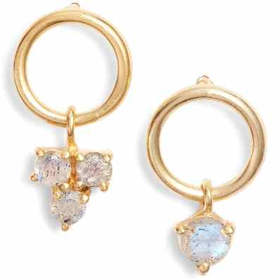 Argento Vivo sweetheart mismatched earrings