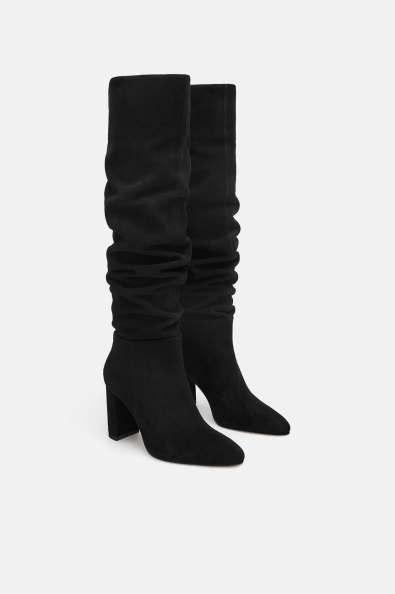 Zara High heeled leather boot