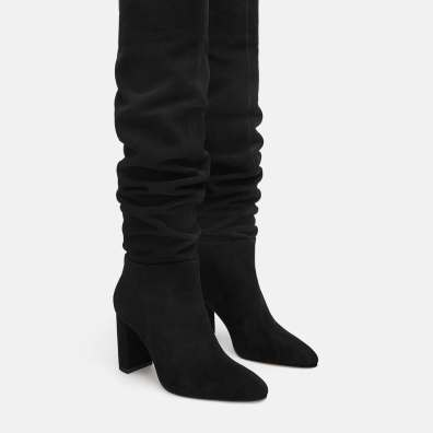 Zara High heeled leather boot
