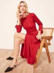 Reformation zelda dress red