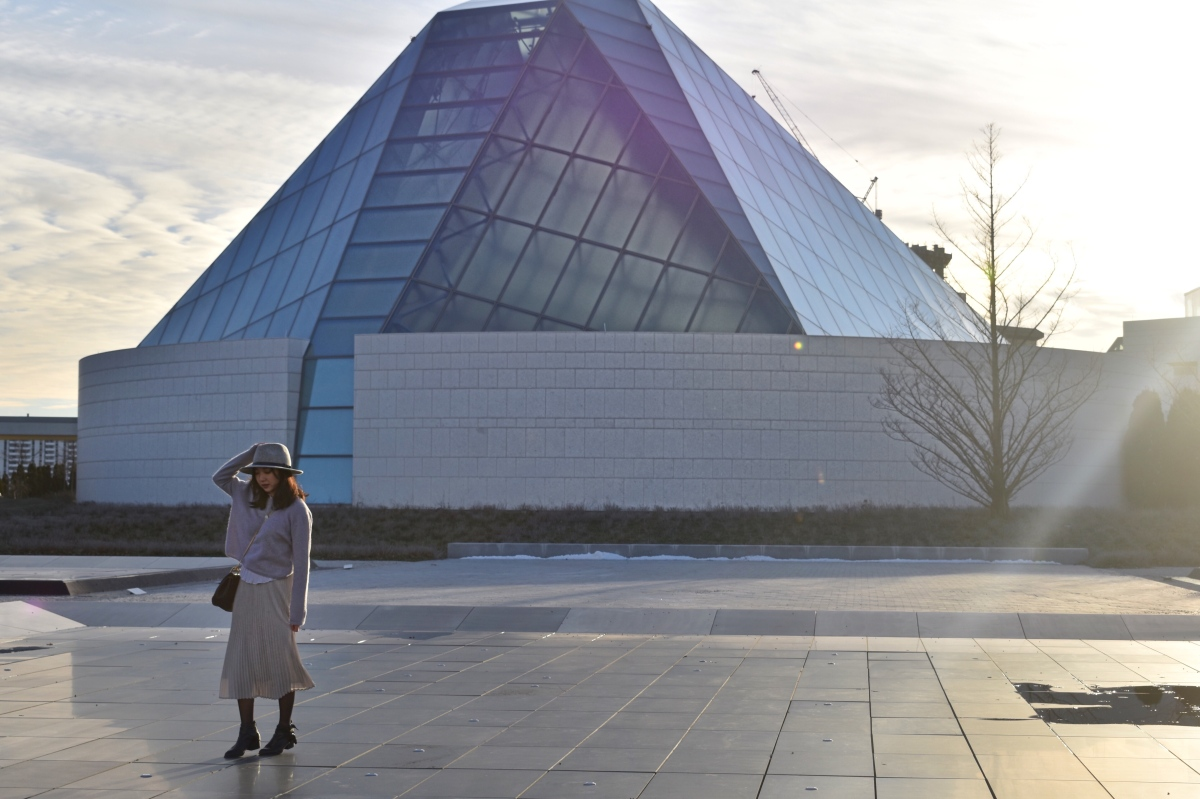 Aga khan museum in the background