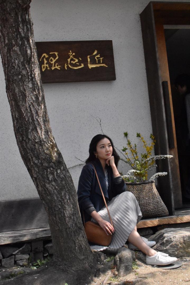 Japan zen, peaceful Japan, Japan ootd, minimal ootd, minimal outfit, minimal style