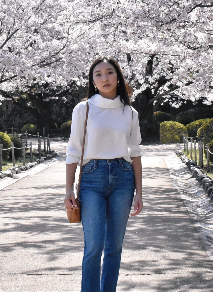 Cherry blossoms Japan outfit of the day