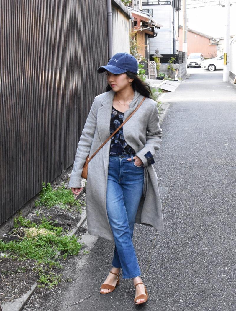 Koenji, Japan, ootd, casual chic look, minimal, simple style, strap kitten heels, paige jeans, straight legged jeans