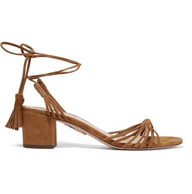 Aquazzura Mescal 50 Suede Sandals