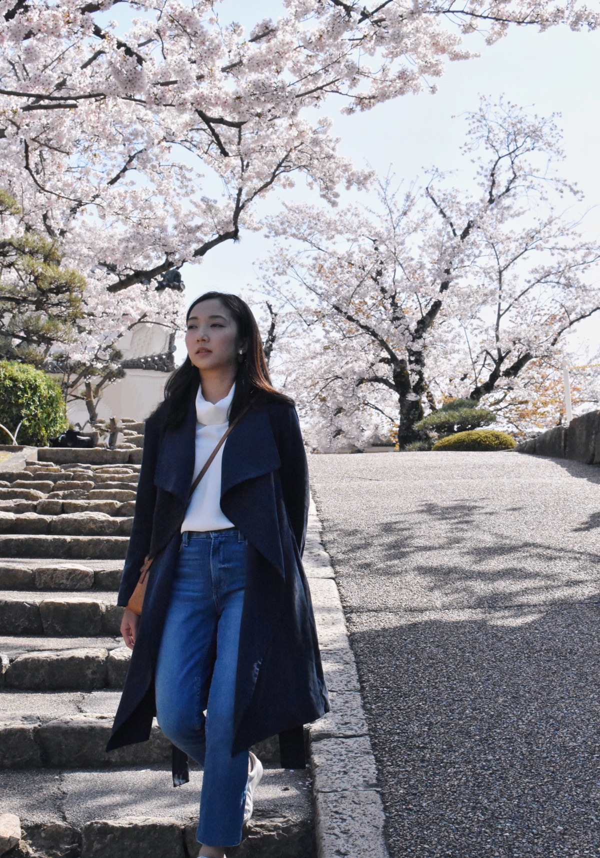 Outfit post Japan cherry blossoms