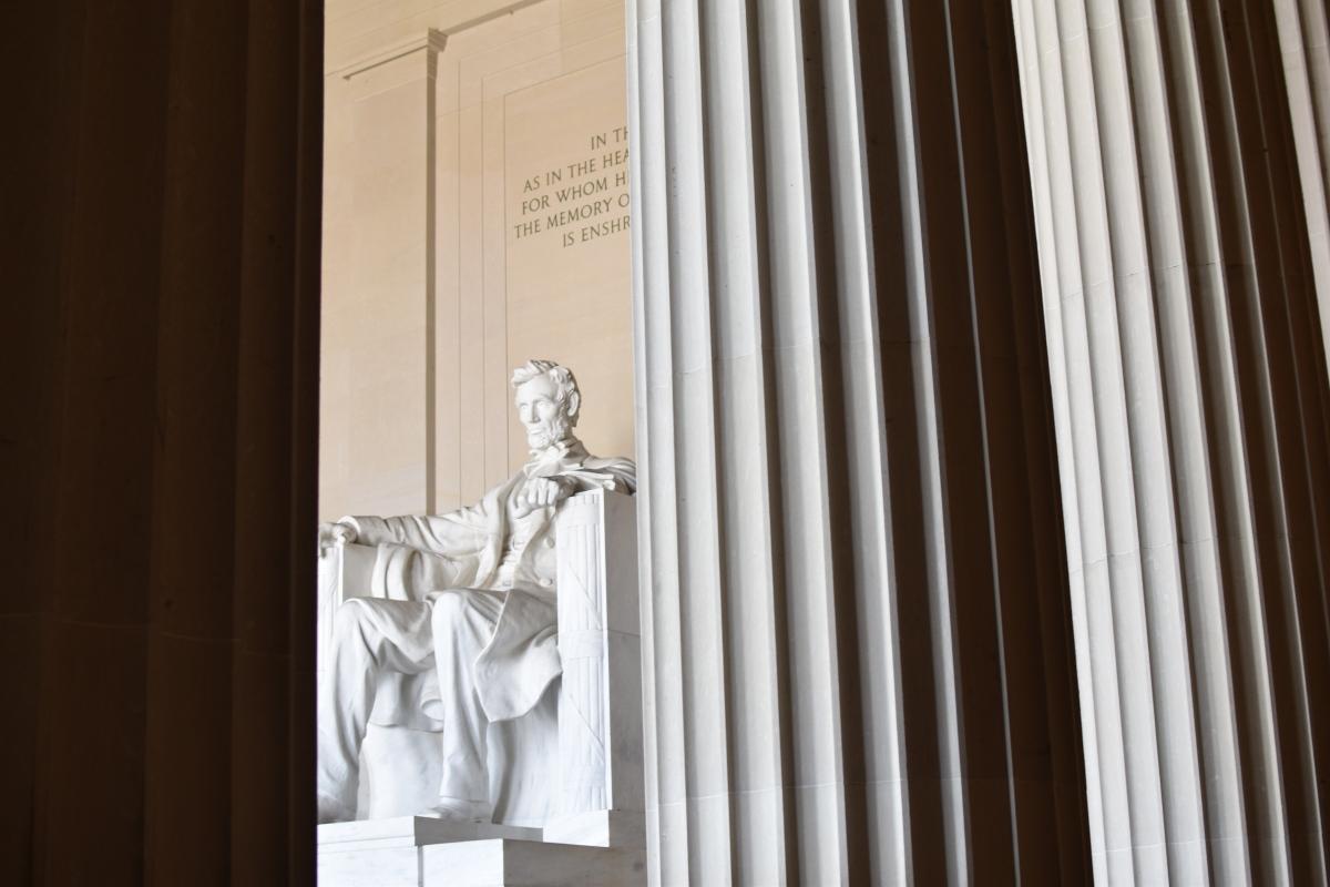 lincoln memorial statue, abraham lincoln