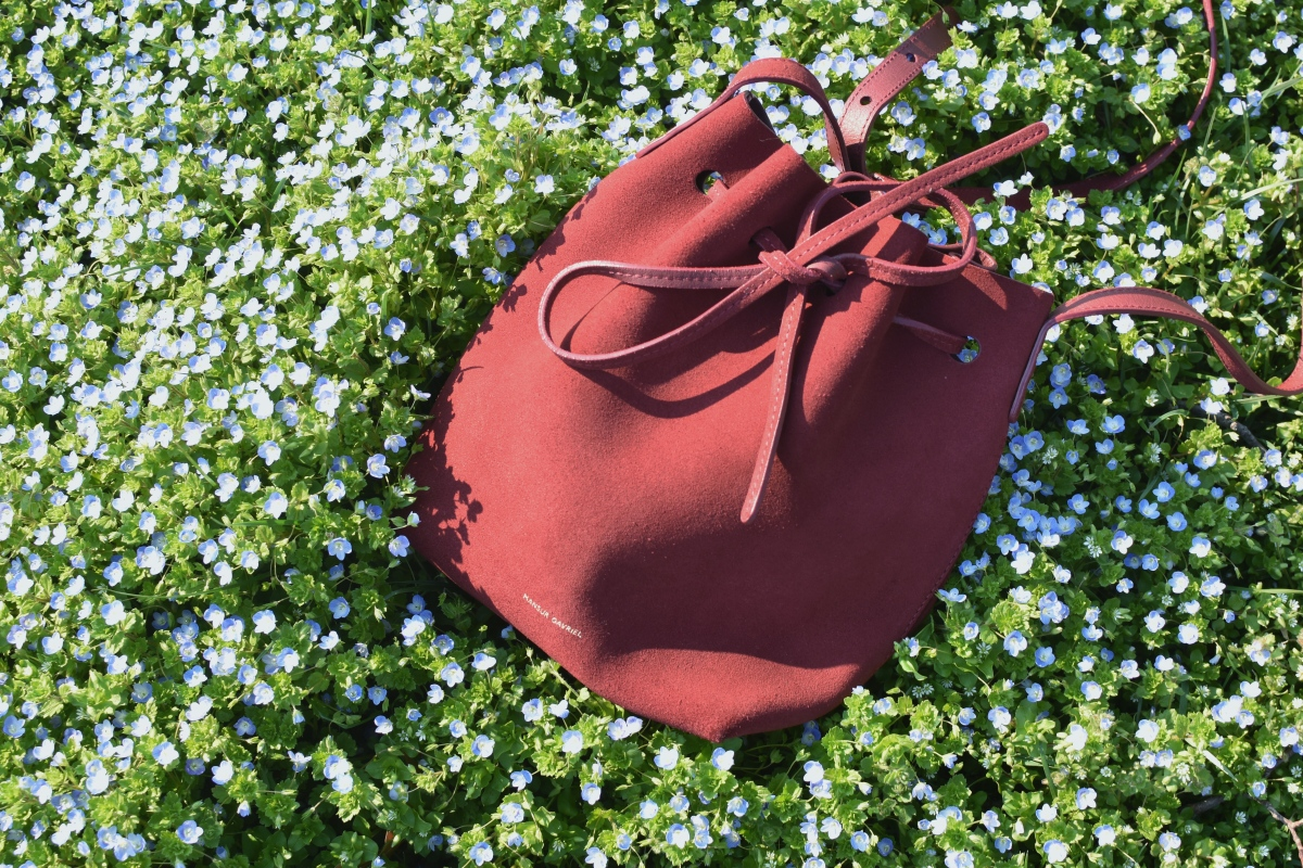Mansur Gavriel Bucket Bag Mini Red